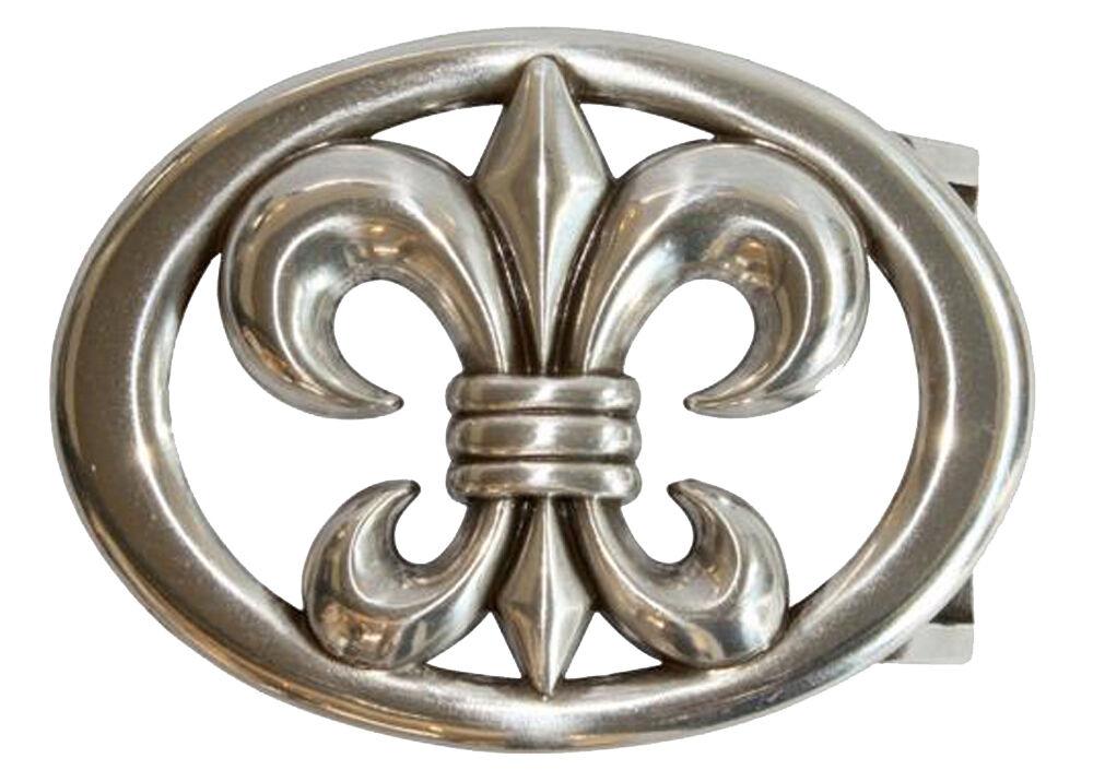 Adorno en la cintura lirio ovalada, plata de colores