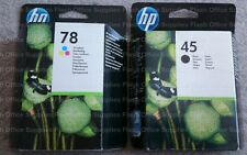 HP 45 HP 78 XL 2017/8 BLACK & COLOUR CARTRIDGES HIGH-CAPACITY VAT INC FASTPOST