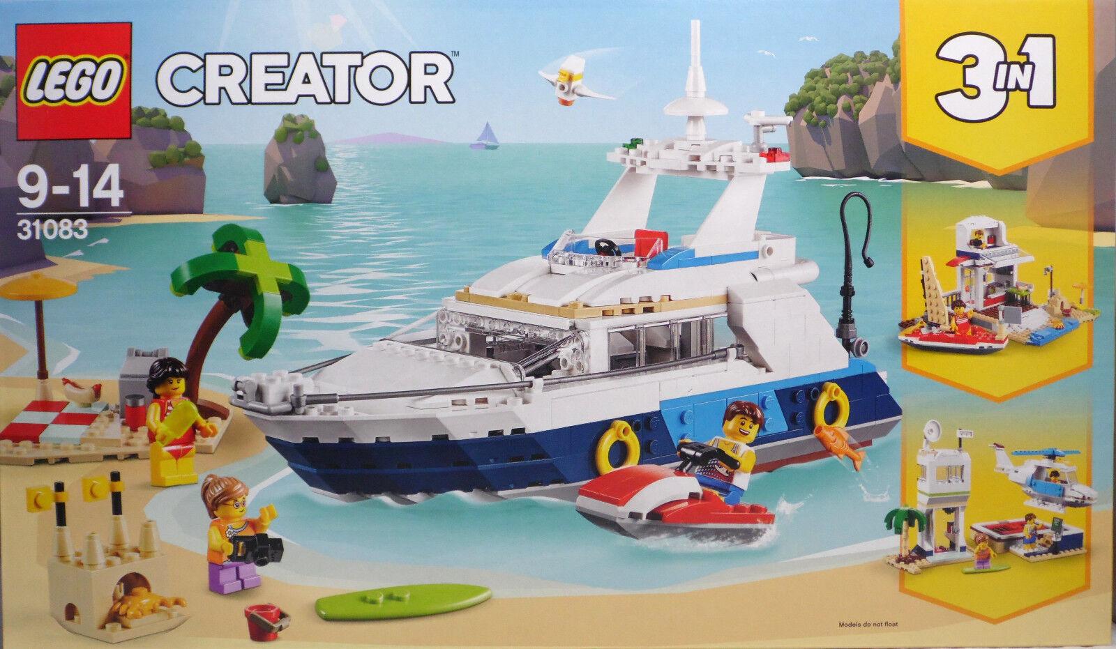 LEGO Creator 31083 Yacht 3in1 Strandhaus SegelStiefel Hubschrauber Landeplatz NEU NEU NEU 869215