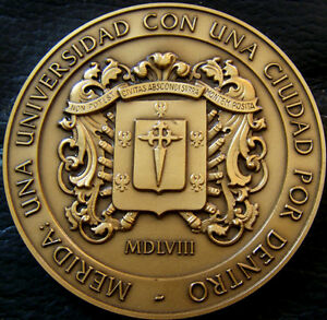 MED3514-MEDAILLE-UNIVERSITE-DE-MERIDA-1958-PORTUGAL-MEDAL