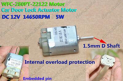 DC 12V 14650RPM Carbon Brush 280 Motor for Car Door Lock Electric Folding Mirror