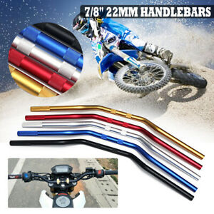 7-8-039-039-22mm-Handlebars-Handle-Bars-For-Off-Road-Motorcycle-Dirt-Pit-Bike-Aluminum