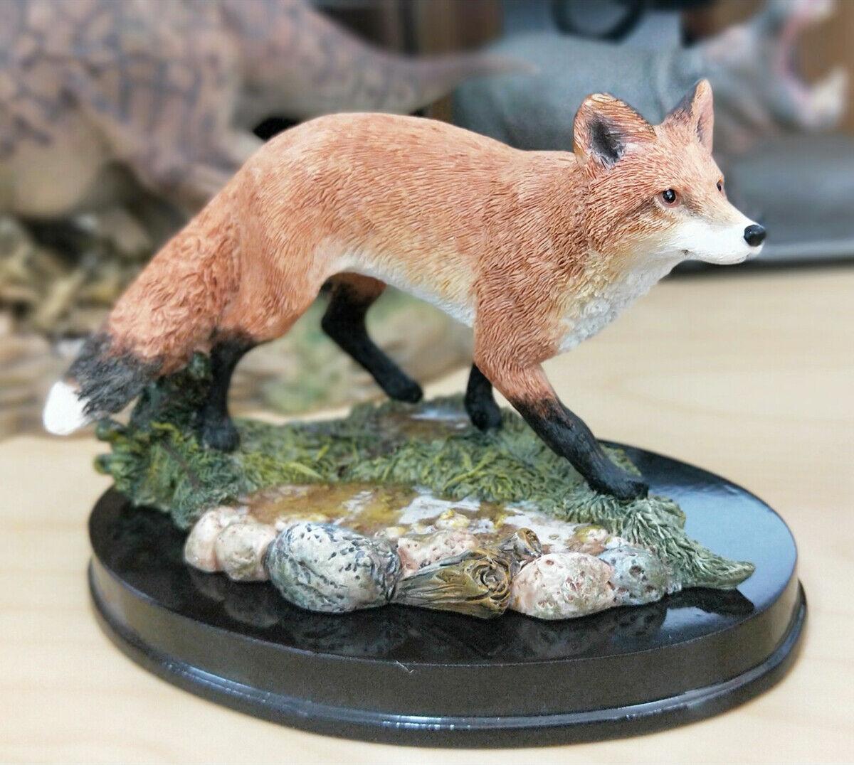 Rosso Fox Waterscape Scene modellololo Wild Animal cifra  Collector Decoration GK giocattolo  autorizzazione