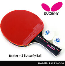Butterfly Pan Asia S10 Shake Hand Table Tennis Racket Ping Pong Ball ...