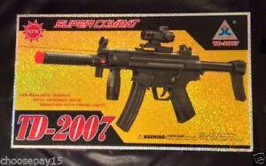 TD2016 Enfants Jouet Assaut Militaire Fusil Gun avec feux Clignotant Sonore Vibration