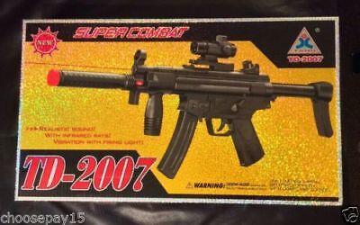 Kids fusil d/'assaut jouet SWAT Gun Light Sound Vibration Super combat TD-2007