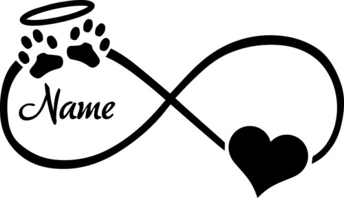 Pet Halo Infinity custom vinyl decal sticker many sizes and colors