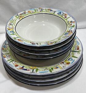 Sakura Provence Designed By Apple Dinnerware Set Plates & Soup Bowls