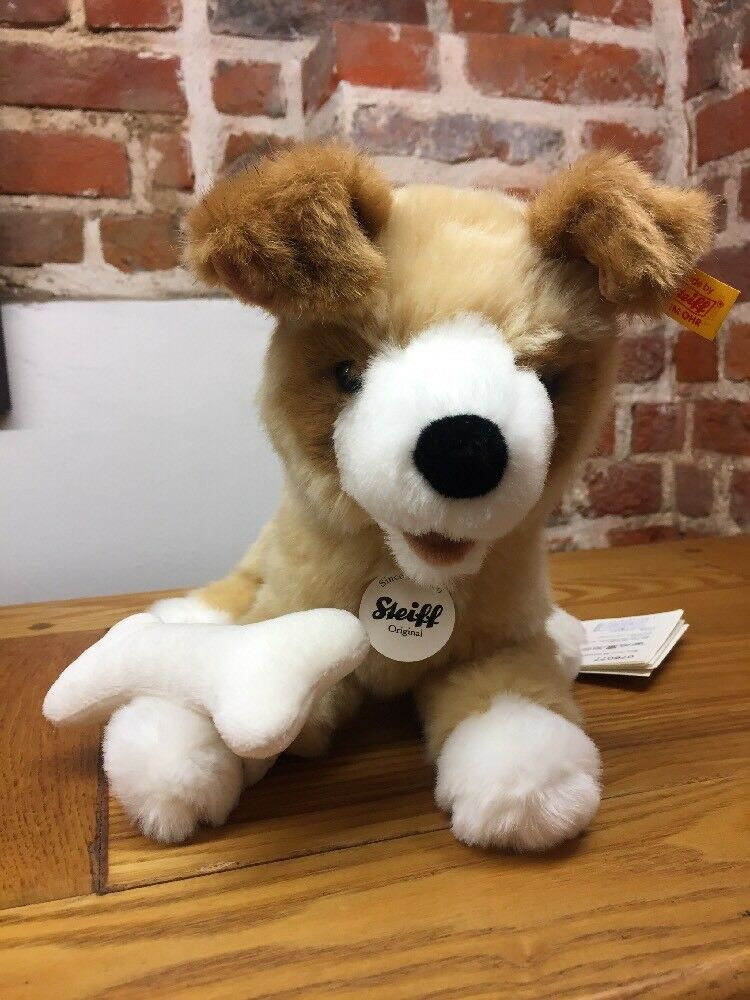 Steiff 076077 076077 076077 Rico Blonde braun Plush Dog Teddy Bear Toy f7a792