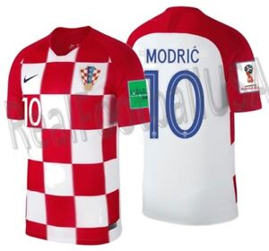 free shipping 8bced 7d8df Details about NIKE LUKA MODRIC CROATIA HOME JERSEY WORLD CUP 2018.