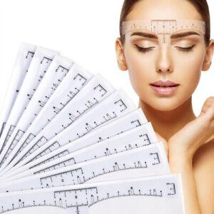10-50Pcs-Eyebrow-Tattoo-Stencil-Shaper-Ruler-Makeup-Template-Reusable-Calliper