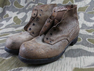 925f6285e28 WW2 VTG GERMAN ARMY ELITE SOLDIERS LOW ANKLE BOOTS SHOES W/HEEL IRONS | eBay