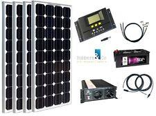 520 Watt Camping Solaranlage, 12Volt SET mit Spannungswandler und Solarbatterie