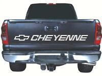 Fits Cheyenne Tailgate 52 X 4 White Vinyl Sticker Decal Chevrolet Chevy