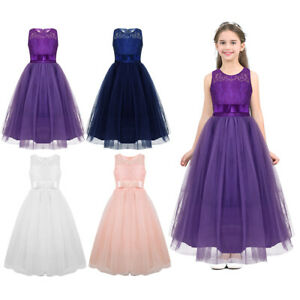 38b987b2d01 Image is loading Flower-Girl-Dress-Princess-Pageant-Wedding-Bridesmaid-Party -