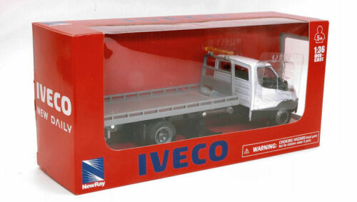 Iveco Daily Bianco C// Pianale 1:36 Model NEW RAY