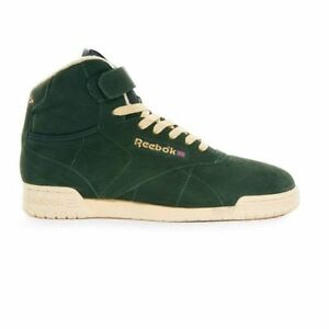 930e8759 Details about Reebok Classic Ex-O-Fit Clean Hi Green Suede High Top  Trainers Sneakers Vintage