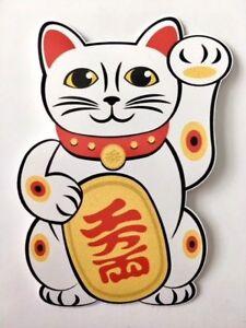 "japanese lucky cat 6.5/"" MANEKI NEKO vinyl decal car window laptop sticker"