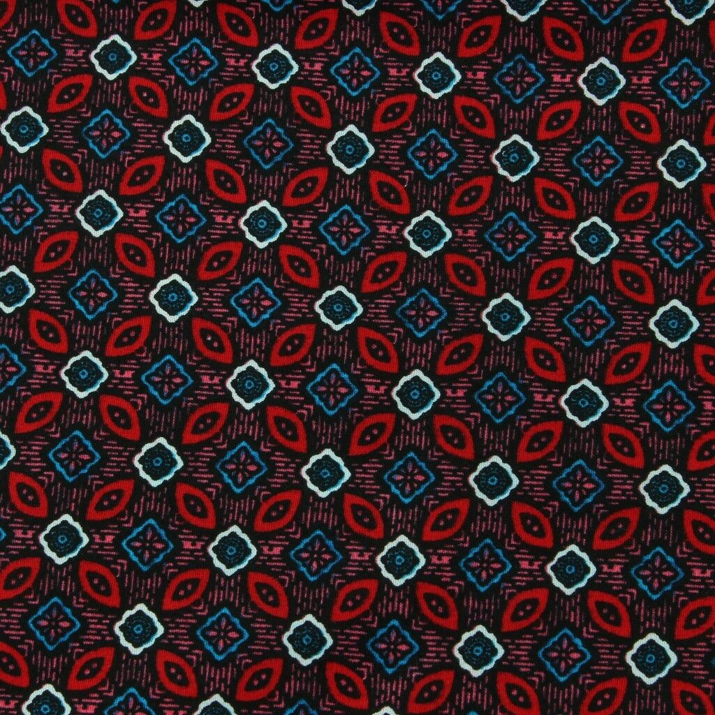 Hommes Loud Chemise Rétro Psychédélique Ajustée Funky Fête Coupe Ajustée Psychédélique Abstrait Rouge 9202cf