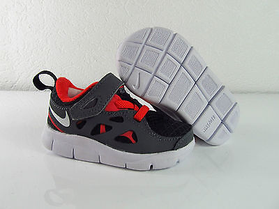 Nike Free Run 2 TDV Black Dark Grey Kinder Kids Toddler Infant 19.5 22 25