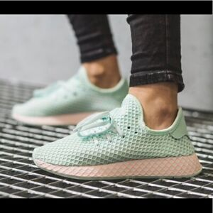 popularne sklepy świetne ceny najniższa zniżka Details about Adidas Deerupt Runner Juniors Shoes in Ice Mint CG6841- NEW