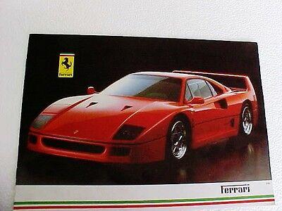 1989 Ferrari Sales Brochure Catalog Enzo F40 Testarossa 412 328GTS Mondial