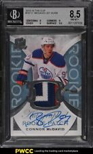 2015-16 UD The Cup Connor McDavid ROOKIE RC AUTO PATCH 92/99 #197 BGS 8.5 NM-MT+