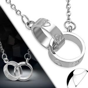 Uhren & Schmuck Satz Halskette 45cm Et AnhÄnger 2 Ringe Ringe Herz Paar Mpv263 Belebende Durchblutung Und Schmerzen Stoppen Ketten