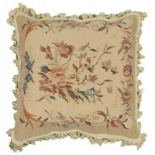 40X40 CM Originale Autentico Cuscino Aubusson Arazzo Fatto a MANO in LANA 8109-2