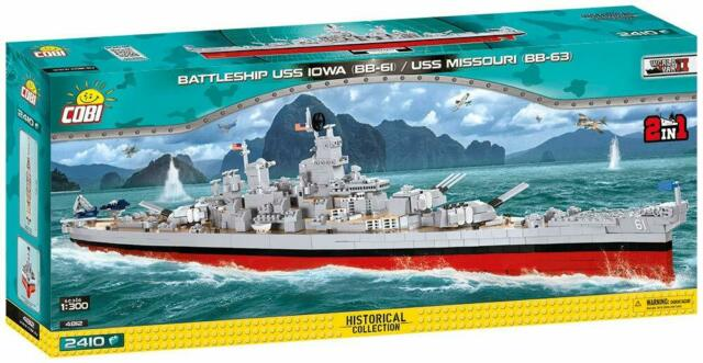 COBI - 4812 - BATTLESHIP USS IOWA (BB-61) / USS MISSOURI (BB-63) NEUF