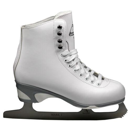 White Jackson JS150 Women/'s Figure Skates with Mark I Blade NEW