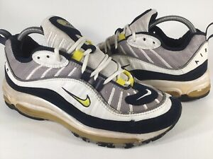 Details about Nike Air Max 98 Tour Yellow White Blue Grey 1998 Mens Size 8.5 Rare 104111 071