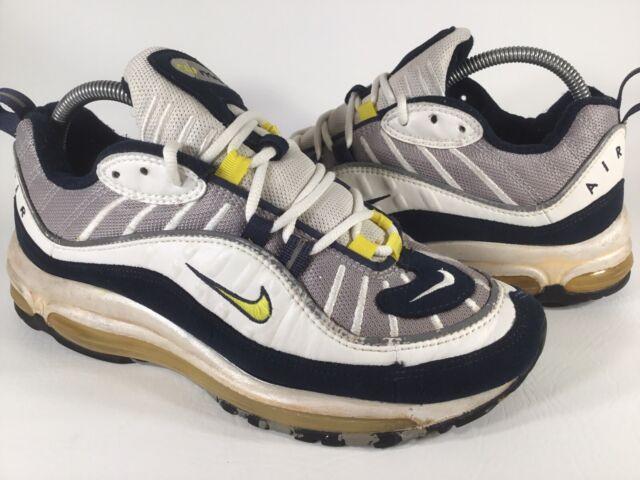 Nike Air Max 98 Tour Yellow White Blue Grey 1998 Mens Size 8.5 Rare 104111 071