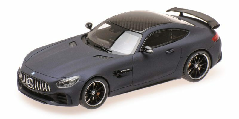 MERCEDES AMG GT R LEATHER MATT blu 2017 1 43 MODEL almost Real