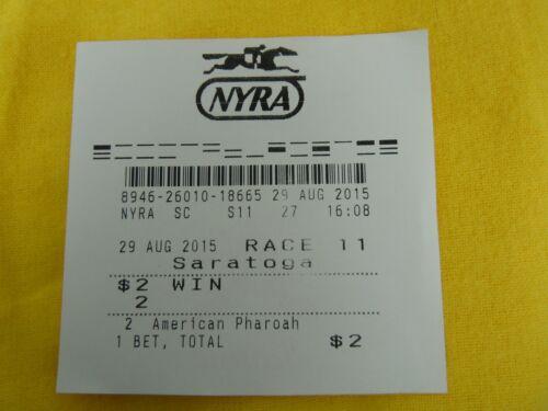 Kentucky Derby Triple Crown Winner American Pharoah Saratoga Rare Losing ticket