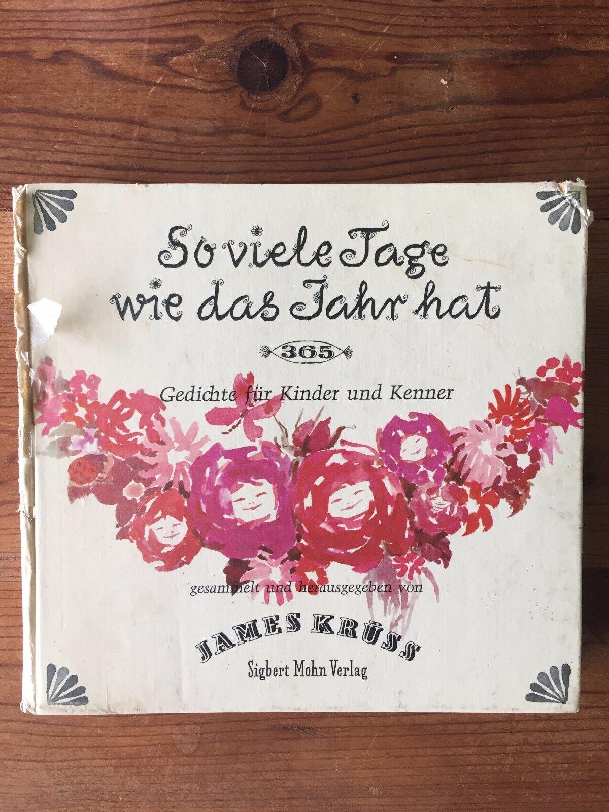 So Viele Tage Wie Das Jahr Hat 365 James Kruss 1959 German