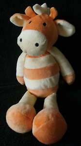 M-amp-S-Marks-and-Spencer-Jarvis-Giraffe-Orange-Yellow-Striped-Soft-Toy-32cm