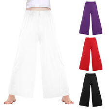 NWT WIDE LEG PRAISEWEAR PANTS PLUM DANCE COSTUME LITURGICAL NYLON Adult//Child