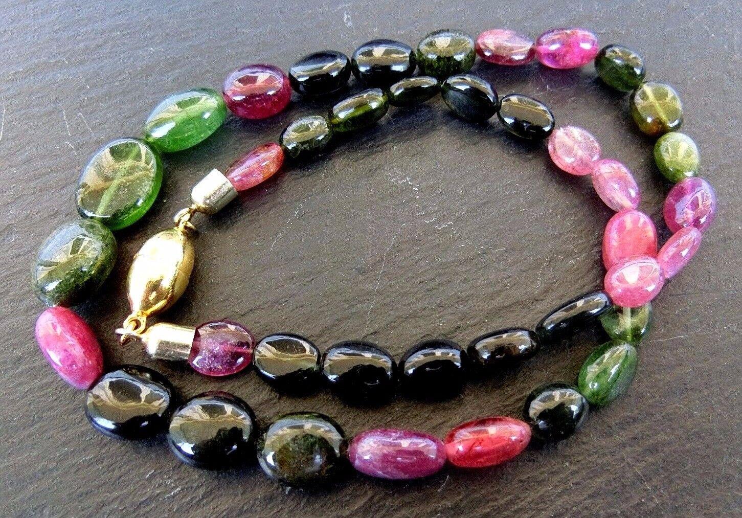 TORMALINA (multicolor) Collier 925 Sterling Sterling Sterling argentoo Fibbia Magnetica Dorato k155 bdac15