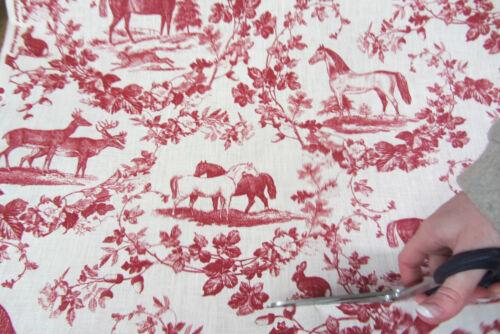 tissu Craft Sanaya linge français toile de jouy rideau