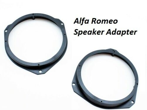 "Alfa Romeo Giulietta PORTE AVANT 165 mm//6.5/"" 2010 To 2014 Haut-Parleur Anneaux Adaptateurs"