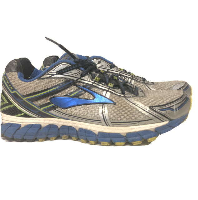 Brooks Adrenaline GTS 15 Mens Running Shoe sz 11 White/Olympic/Lime, D(M) US