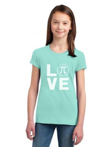 Happy Pi day Celebration Cute Math Cool Girls/' Fitted Kids T-Shirt I Love Pi