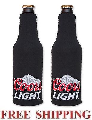COORS LIGHT MOUNTAINS 2 BEER BOTTLE SUIT COOLERS KOOZIE COOLIE HUGGIE PINK NEW