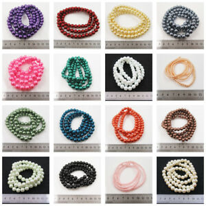 1-STRING-GLASS-PEARL-BEADS-23-COLOURS-6-SIZES-BEADING-JEWELLERY-MAKING