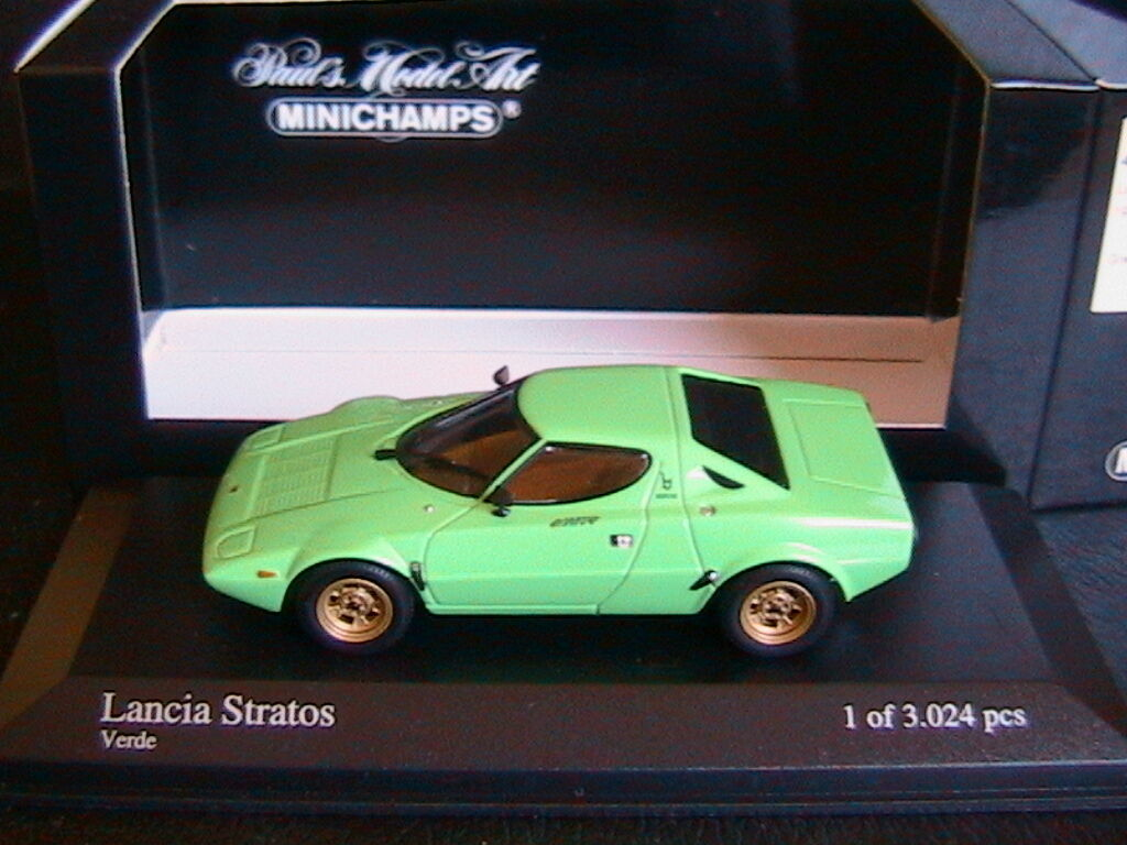 LANCIA STRATOS 1974 green MINICHAMPS 430125024 1 43 GREEN APPLE LEFT HAND DRIVE