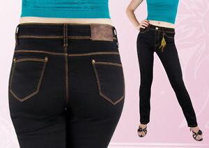 Damen Jeans Jeanshose Normalsitzend Gerades Bein Blau 42  44