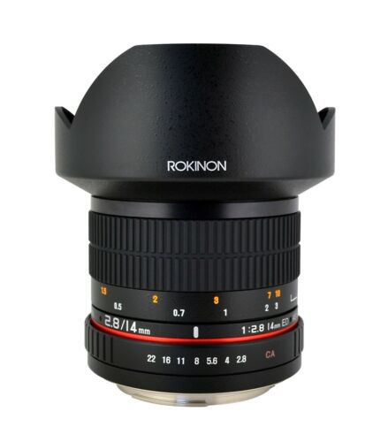 Newest Version! Rokinon 14mm F2.8 Ultra Wide Angle Lens