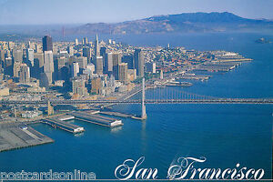 B5256pac-USA-San-Francisco-Golden-Gate-in-distance-postcard
