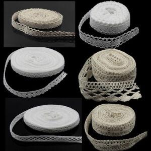 HOT-5-10Yd-Vintage-Cotton-Crochet-Lace-Trim-Wedding-Bridal-Ribbon-Sewing-Crafts